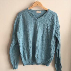 J. Crew Cotton-Cashmere V-Neck Sweater